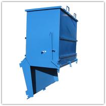 Contenedor apertura inferior obra materiales de construcci n - Contenedores metalicos apilables ...